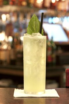 Do you know what you\'re making for the 4th of July yet? Try out the Basil Smash for something crisp and refreshing.