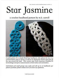 cute headband and belt, free crochet pattern