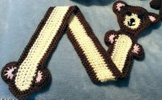 Adorable crocheted teddy bear scarf toddler by madewiththekids #Craftshout