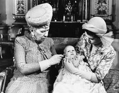 1950: Princess Anne at two months old, with great-grandmother Queen Mary on the left and mother Princess Elizabeth on the right. (AP Photo)