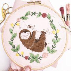 Modern Hand Embroidery Kits and Iron On Patterns by LazyMayEmbroidery Hand Embroidery Kits, Iron On Embroidery, Simple Embroidery, Embroidery Transfers, Embroidery Hoop Art, Embroidery Stitches, Embroidery Patterns, Long And Short Stitch, Lazy Daisy Stitch