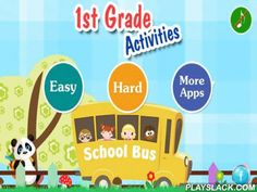 1st Grade Activities  Android App - playslack.com , Try before you buy. If you like this app, please consider purchasing the full version.Developed by California credentialed teachers, First Grade Activities app is a collection of 60 exciting educational games for first graders.Features:* Developed by California credentialed teachers.* 60 different games that teach first graders about colors, shapes, size, letters, numbers, differences, words, matching and math.* Dozens of sounds and voice…