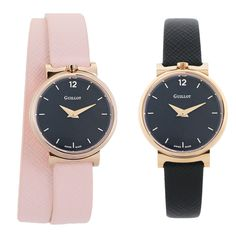 Woman nude and black watch for woman with black dials #guillotwatches #maisonguillot #timetochange #timetohavefun #timetobeyourself #wristwatch #doublestrap #watchforwomen #nudewatch #blackdial #pinkstrap #goldpinkcase #nude #black #goldpink #swissmade #savoirfaire #luxury #interchangeable #modular #fashionaccessory #parisian #elegance #watchaddict #borninparis Double S, Or Rose, Parisian, Bracelets, Fashion Accessories, Nude, Watches, Woman, Luxury