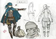 Female thief class concept art from for Fire Emblem Awakening