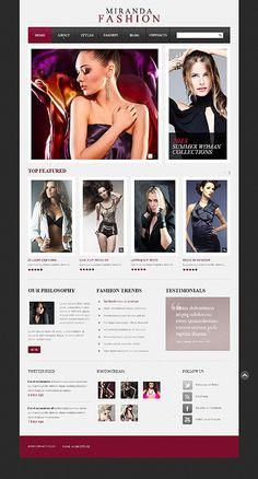 'Miranda Fashion' Drupal Template #webdesign http://zign.nl/42972