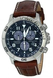 Citizen Men's BL5250-02L Titanium Eco-Drive Watch-Leather Band The BL5250-02L Titanium General Information: Watch isImported Round watch in titanium with textured chronograph subdial and croco-embossed leather band with contrast stitching AJapanese quartz movement with analog display
