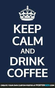 How does anyone keep calm on coffee? LOL