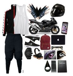 If I went to Samezuka Academy (I know this isn't they're normal uniform but whatever) and joined there swimming team by aethersorceress on Polyvore featuring polyvore, fashion, style, Alexander Wang, NIKE, Herschel Supply Co., Binglabangles, Wildfox, Marshall, Nice Things and clothing