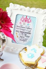 """Alice in Wonderland """"Quote"""" Party Sign"""
