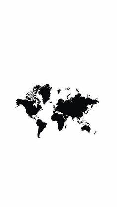 World map IPhone background