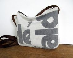 1950s Recycled Delivery Bag Canvas Cross Body Bag. $40.00, via Etsy.