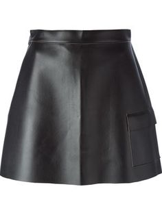 patch pocket faux leather skirt. MSGM. Love! Love! Love!