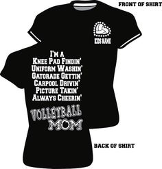 Fitted VolleyBall Mom Bling T-Shirt - LoveItSoMuch.com