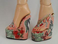 Fashion Doll Shoes: wedge soles