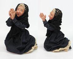 OOAK DOLL WOMAN in mourning handmade art doll by LalkowniaDolls