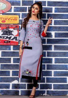 Kurti Neck Designs, Kurti Designs Party Wear, Blouse Designs, Kurti Patterns, Dress Patterns, Rayon Kurtis, Fancy Kurti, Indian Clothes Online, Latest Kurti