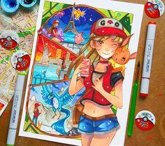 +Pokemon GO+ by larienne