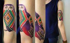 Татуировка совы на теле: трактовка изображения