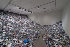 A Room Filled With Prints Of All Of The Images Uploaded To Flickr In One Day