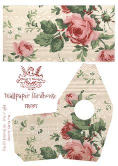 Wings of Whimsy: Wallpaper Birdhouse No 5 Front #vintage #ephemera #freebie #printable #wallpaper #bird #house kopi