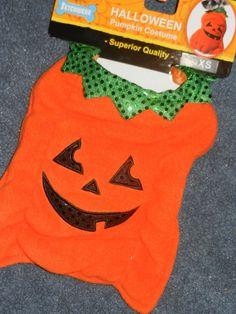 Halloween Pumpkin Costume Pet Dog Puppy Clothes Clothing T Shirt Size X Small #Fetchwear