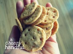 Cheddar crackers - gluten-free, dairy-free  http://forkandbeans.wordpress.com/2012/01/04/this-cheddar-is-better-than-ever/