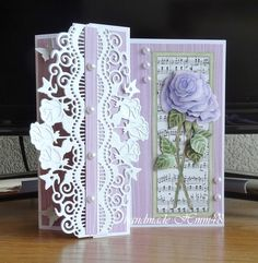 Fancy Fold Cards, Folded Cards, Musical Cards, Shabby Chic Cards, Step Cards, 3d Cards, Die Cut Cards, Card Tutorials, Happy Birthday Cards