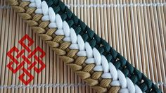 Tricolor Weave Paracord Bracelet Tutorial - YouTube