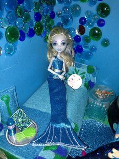 Monster high Lagoona DIY mermaid tail and top