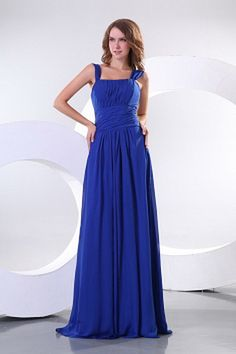 A-Line Blue Draped Bridesmaids Gowns Blue Bridesmaid Gowns, Cheap Bridesmaid Dresses, Cheap Wedding Dress, Wedding Dresses, Party Dresses, Cheap Graduation Dresses, Chiffon, Affordable Prom Dresses, Silhouette