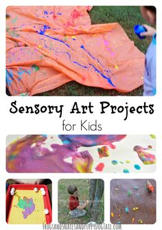 10+ Sensory Art Projects for Kids on FSPDT