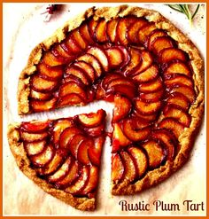 Plum and Lavender Galette plum galette - this calls for a fresh, sweet and fruity olive oil. may we suggest the arbosana evooplum galette - this calls for a fresh, sweet and fruity olive oil. may we suggest the arbosana evoo Plum Recipes, Lavender Recipes, Tart Recipes, Sweet Recipes, Dessert Recipes, Summer Recipes, Vegan Sweets, Vegan Desserts, Vegan Food