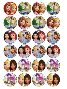 24 x Lego Friends Cup Cake Toppers (Precut Available) | eBay