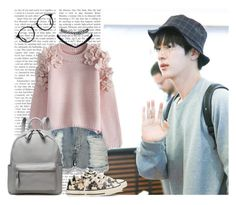 """Kim Seokjin"" by a-kookie ❤ liked on Polyvore featuring LE3NO, Chicwish, Converse, Wet Seal, Ray-Ban, bts, BangtanBoys, jin and SeokJin"