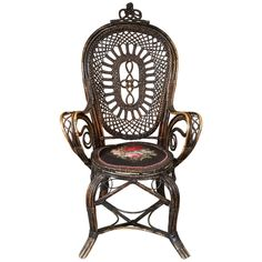 Late 19th Century Danish Wicker Chair | From a unique collection of antique and modern armchairs at https://www.1stdibs.com/furniture/seating/armchairs/