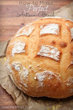 How to Make Perfect Artisan Bread {Step by Step Instructions and Pictures} - Samantha Danielle Bread Recipes My Recipes, Cooking Recipes, Favorite Recipes, Simple Recipes, Bread Bun, Yeast Bread, Bread Rolls, Artisan Bread Recipes, Pizza