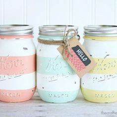 15 Cheerful Ways to Use Mason Jars for Spring and Easter spring mason jar crafts Diy And Crafts Sewing, Crafts For Girls, Crafts To Sell, Easy Crafts, Sell Diy, Kids Crafts, Easy Diy, Mason Jar Crafts, Mason Jar Diy
