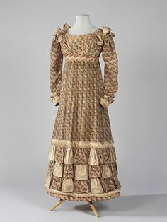 1820 cotton and silk dress