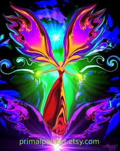 "Spiritual Chakra Energy Angel Art ""Angel of the Violet Flame"""