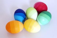 Ombre dyed Easter eggs