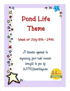 Kid's Activity Guide - Pond Life theme