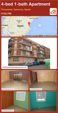 Apartment for Sale in Picassent, Valencia, Spain with 4 bedrooms, 1 bathroom - A Spanish Life Apartments For Sale, Fitted Wardrobes, Valencia Spain, Spanish, Lounge, Bathroom, Bed, Life