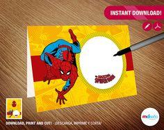Spiderman Food Tent - Spiderman Cake Food Tent - Spiderman Cupcakes Food T. - Themes Spiderman - Happy Birthday Spiderman -…