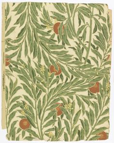 "Wallpaper, ""The Orange Tree"", 1902 - designer: Walter Crane"