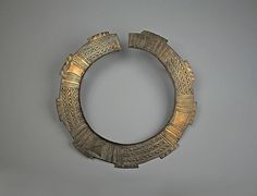 Africa |  Brass Collar | Teke people, DR of Congo, 19th- 20th century |Diameter 11-1/4 in.