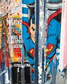 SUPER MAN - @JP-GAUTHIER / Paris - Ready-Made - 2017 - @DOM(K) Super Man, Energy Drinks, Ale, Paris, Montmartre Paris, Ale Beer, Paris France, Ales, Beer