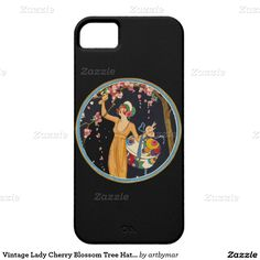 Vintage Lady Cherry Blossom Tree Hat Box iPhone 5 Cover
