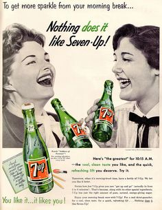 7up 1955 by it's better than bad, via Flickr