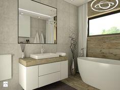 Dom Żórawina - Średnia łazienka w domu jednorodzinnym z oknem, styl nowoczesny - zdjęcie od Carolineart