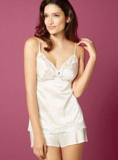 f6e009032a3 Leonie Silk Camisole And Shorts Set - Ivory
